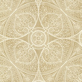 Yasamin Gold Mehndi Medallion Wallpaper