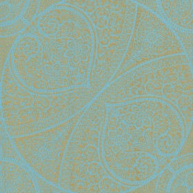 Yasamin Teal Mehndi Medallion Wallpaper