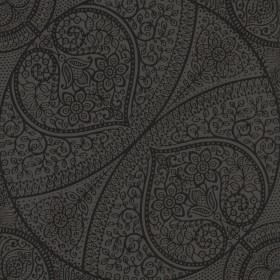 Yasamin Black Mehndi Medallion Wallpaper
