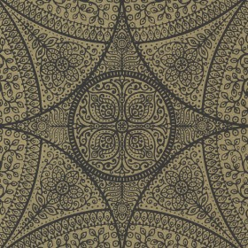 Yasamin Brass Mehndi Medallion Wallpaper