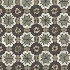 Marqueterie Pewter Mosaic Geometric Wallpaper