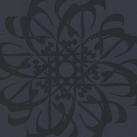 Hazar Afsan Black Modern Medallion Wallpaper