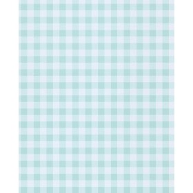 Kay Turquoise Vichy Check Wallpaper