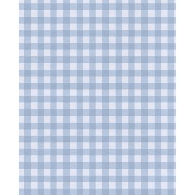 Kay Blue Vichy Check Wallpaper