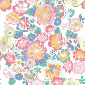 White English Country Floral Dream Wall Mural