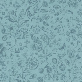 375012 Ambroos Blue Woodland Wallpaper