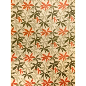Dramatic Kerala Spice Palm Fabric