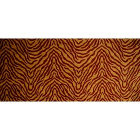 Tiger 1783 Red & Gold Animal Upholstery Fabric