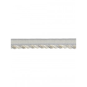 Glowing Zeppelin Brushed Silver Trim Fabric