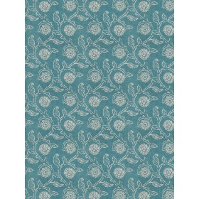 Pretty Gala Floral Teal Fabric