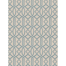 Exceptional Egyptian Lattice Turquoise Fabric