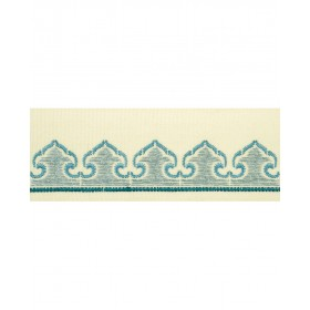 Lovely Morocco Teal Trim Fabric