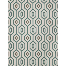 Striking Sonic Youth Teal Fabric