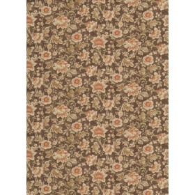 Exceptional Sabatier Coffee Fabric
