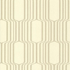 Vina Gold Square Ogee Wallpaper