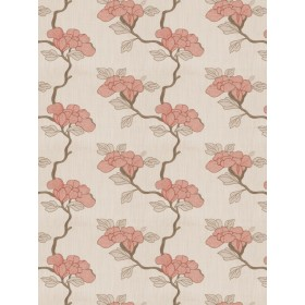 Glowing Asian Floral Lacquer Fabric