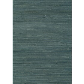 Jurou Blue Grasscloth Wallpaper