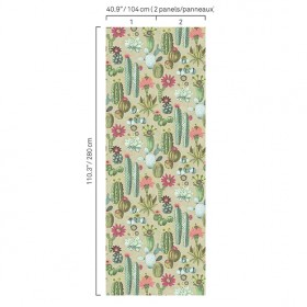 5427 73W8411 Cactus Plant Drawing Wall Mural