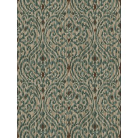Alluring Fava Damask Forest Fabric