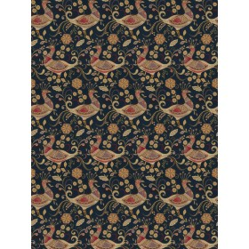 Dazzling Aplomb Peacock Navy Fabric