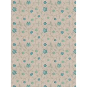 Magnificent Axiom Floral Teal Fabric