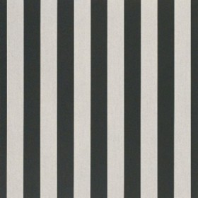 "46"" BEAUFORT BLACK/WHITE 6 BAR Fabric by Sunbrella Fabrics"