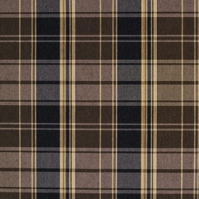 5807 Espresso Plaid Fabric by Charlotte Fabrics