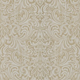 Royale Cream Wavy Damask Wallpaper