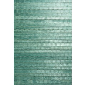 Kumi Green Grasscloth Wallpaper