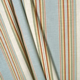 Stripe Ensemble Robins Egg Waverly Linen Fabric