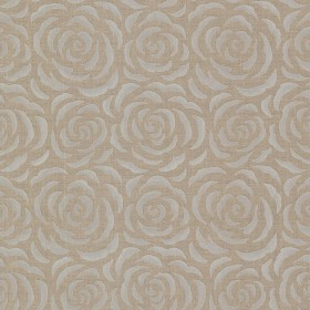 Rosette Brass Rose Pattern Wallpaper