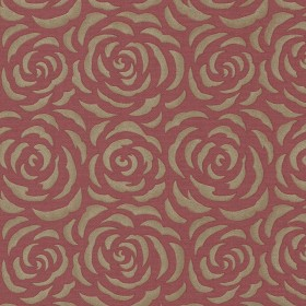 Rosette Red Rose Pattern Wallpaper