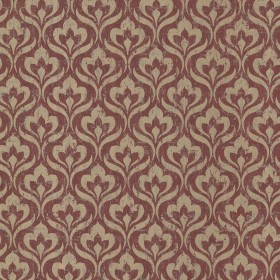 Toscana Red Peacock Ogee Wallpaper