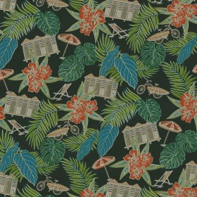 Beach Scenes 802531 Charcoal Tommy Bahama Outdoor Fabric