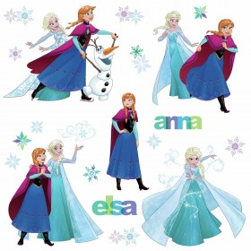 RMK3483SCS Disney Frozen Fun Wall Decals with Snowflake Embellishments