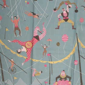 Circus Friends Teal RM Coco Fabric