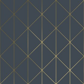 2928-8804 Diamonds Navy Geometric Wallpaper