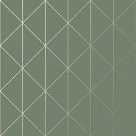 2928-8806 Diamonds Olive Geometric Wallpaper