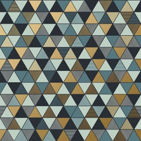 2928-8809 Triangular Multicolor Geometric Wallpaper