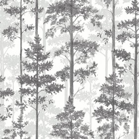 2928-8827 Pine Multicolor Silhouette Trees Wallpaper