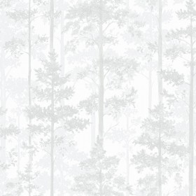 2928-8828 Pine Off-White Silhouette Trees Wallpaper