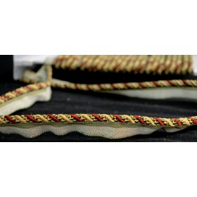 1009T Red Gold Green Lip Cord Trim