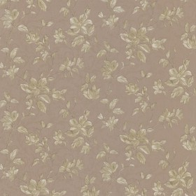 Plumier Light Brown Mid Scale Floral Wallpaper