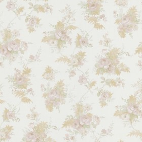 Yvette Taupe Watercolour Floral Wallpaper
