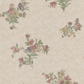 Nicolette Taupe Photo Real Floral Wallpaper