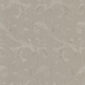 Isleworth Silver Floral Scroll Wallpaper