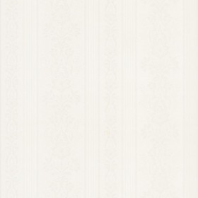 Kensington White Damask Stripe Wallpaper