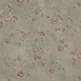 Alex Olive Delicate Satin Floral Trail Wallpaper