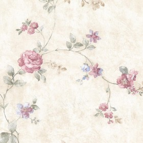 Mary Pink Floral Vine Wallpaper
