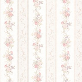 Lorelai Blush Floral Stripe Wallpaper